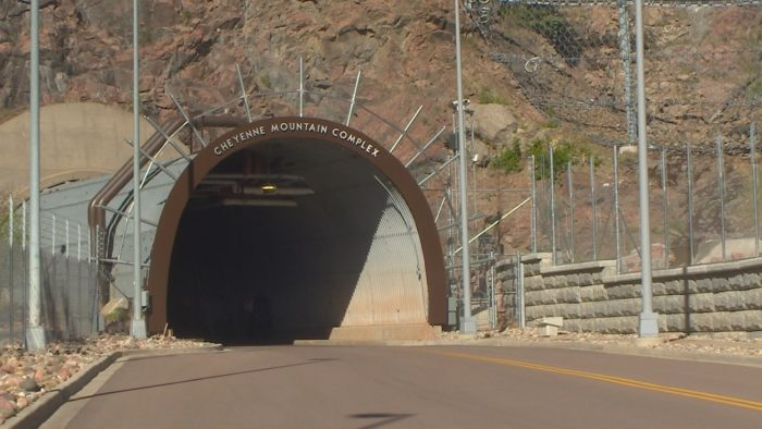 A secret entrance to a mountain base
