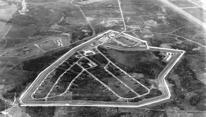 Aerial shot of Loring Air Force Base