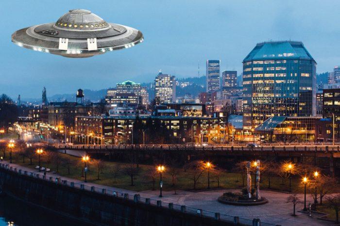 A superimposed UFO over Portland