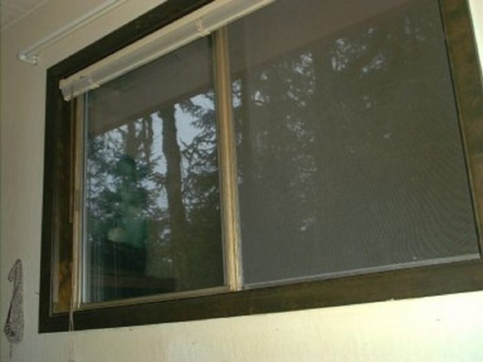 The window from which the witness saw the UFO