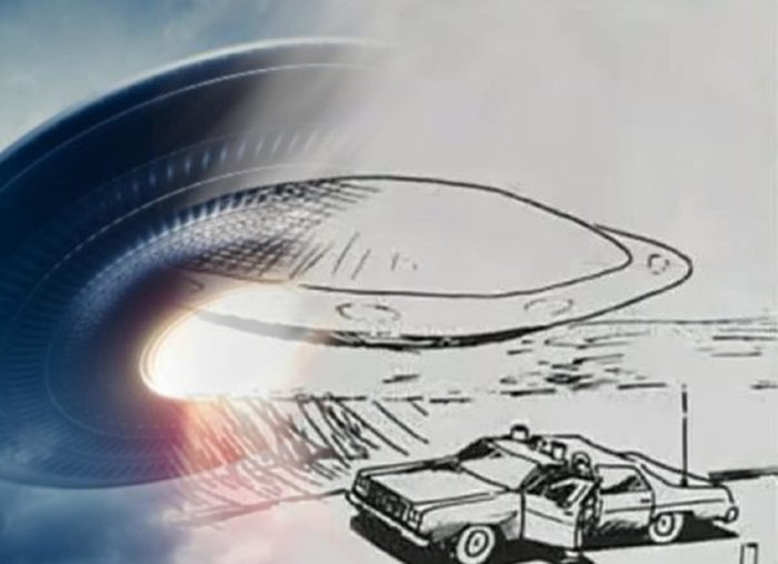 Artist's impression of the Flora UFO incident