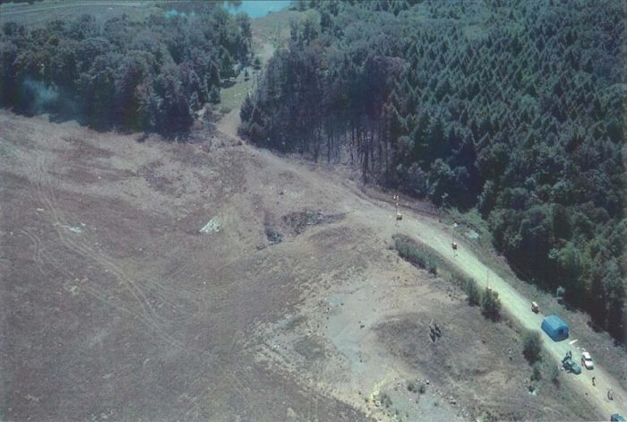 Crash site of Flight 93, a field in Pennsylvania