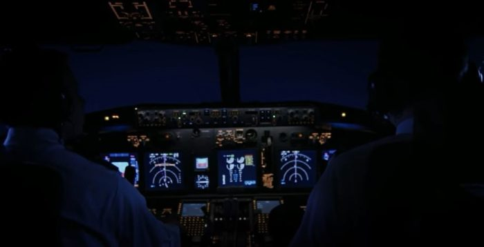 View from the cockpit of the plane