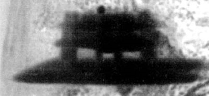 A picture of an apparent UFO