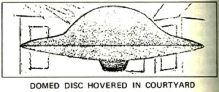 Artist's impression of a hovering UFO