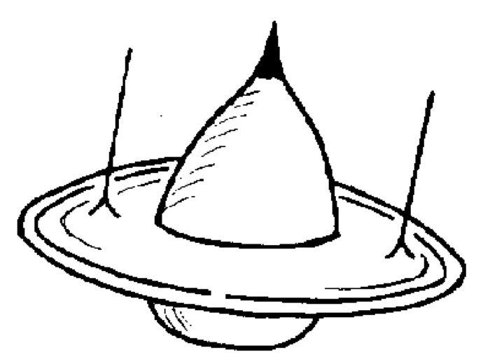 Artist's impression of a UFO