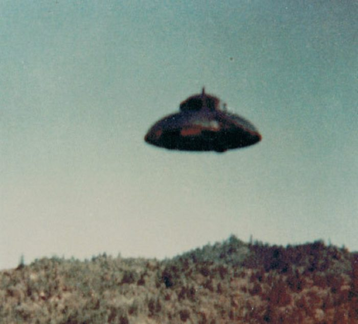 A picture of a UFO claimed to be real