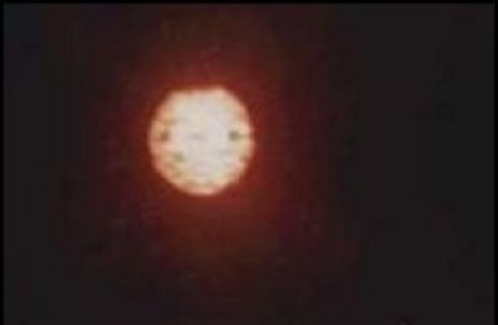 An alleged UFO over Pigeon Lake