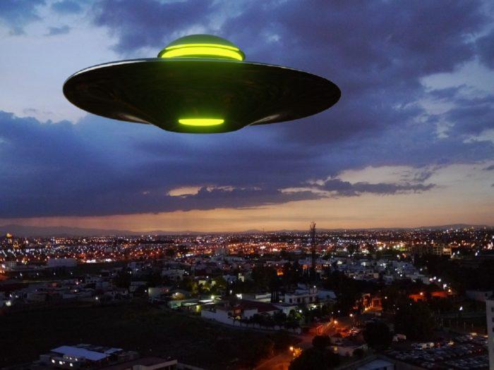 A superimposed UFO over Mexico