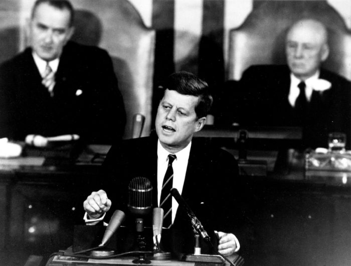 John Fitzgerald Kennedy speaking publicly