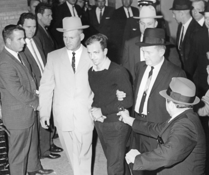 Jack Ruby shoots Oswald at point blank range