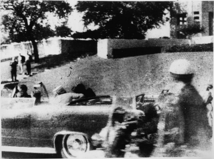 Picture from the other side of the car, looking at the Grassy Knoll