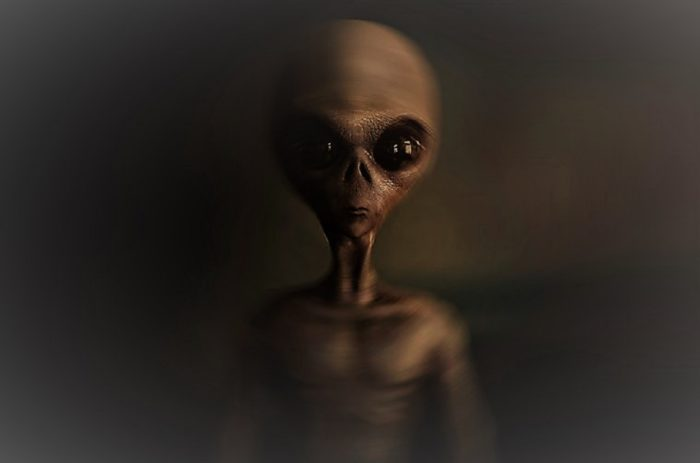 An artist's impression of a grey alien