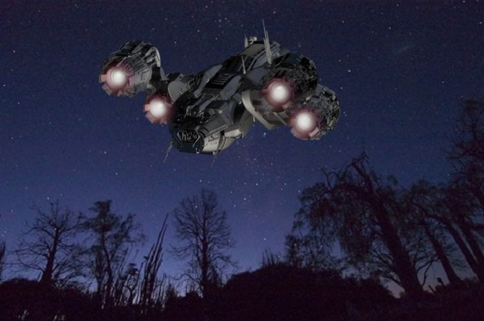 An image of a spaceship heading for the stars