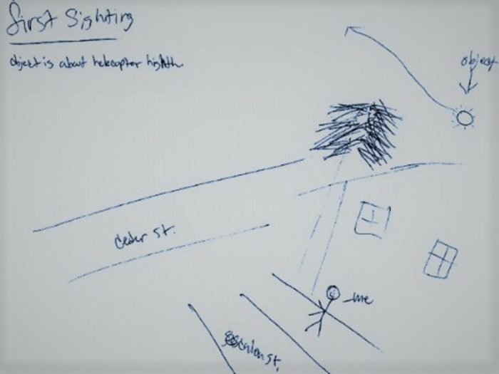 Witness sketch of the incident