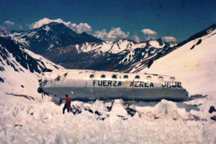 The plane wreckage of Friday 13th 1972
