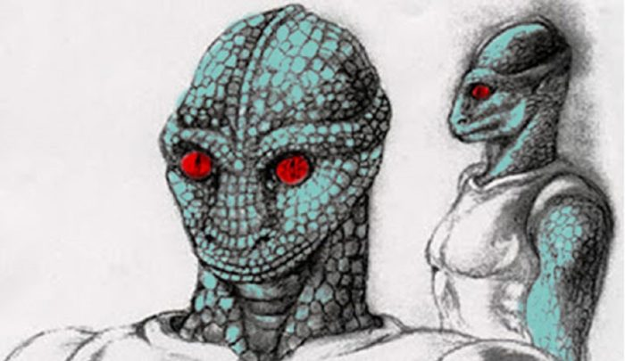Artist's impression of a reptilian alien