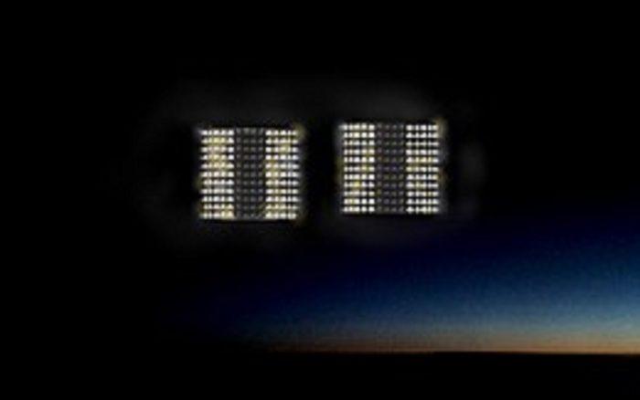 Artist's impression of a UFO overhead
