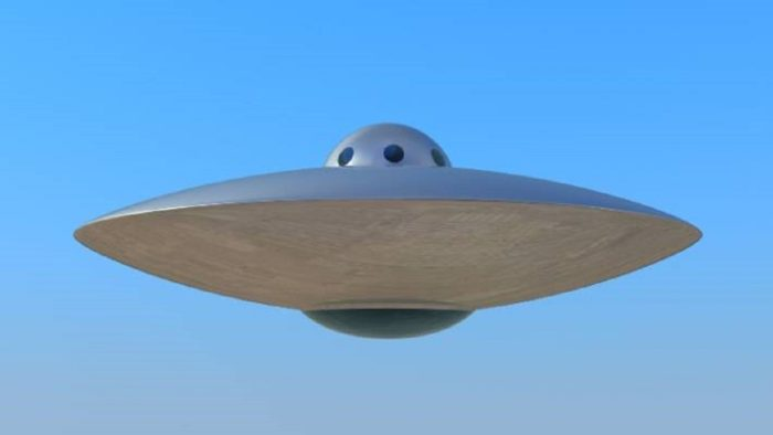 An image of a typical flying saucer UFO