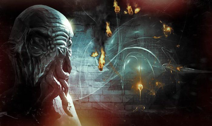 A depiction of an ancient alien entity