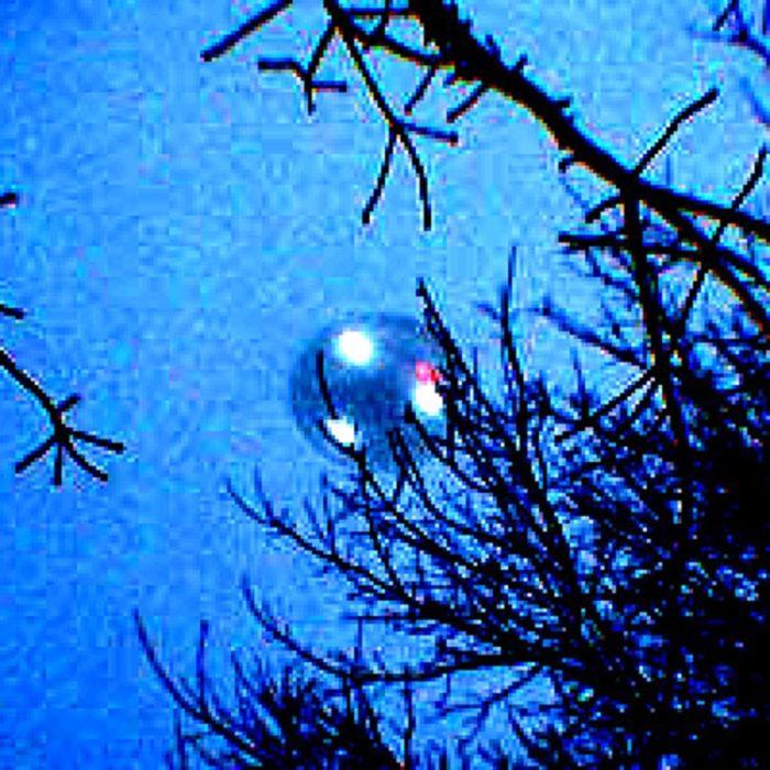 A close-up of the UFO over Weyauwega