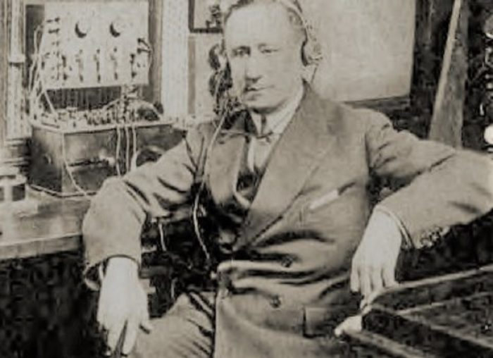 A close-up of Guglielmo Marconi