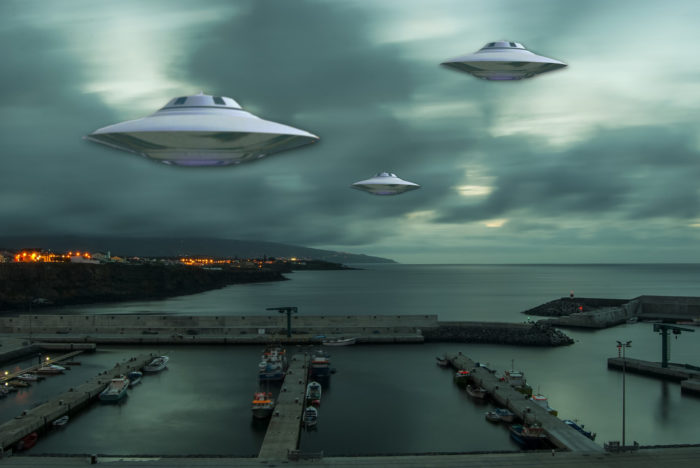 A superimposed UFO over Portugal