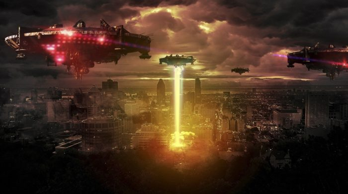 A typical Hollywood depiction of an alien invasion