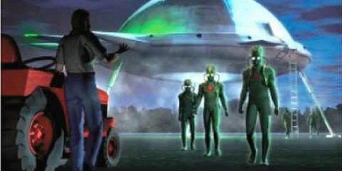 Artist's impression of the Boas alien abduction