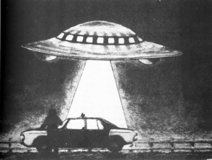 Sketch of the UFO incident in Denmark