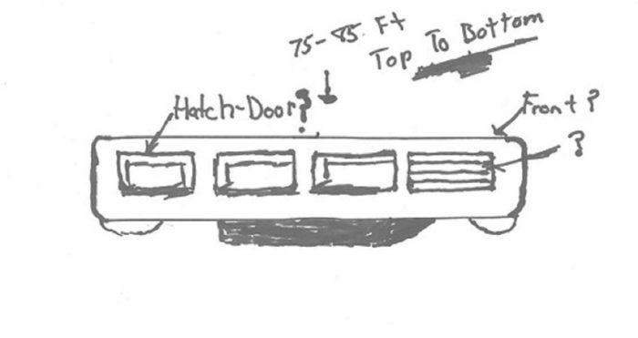 Witness sketch of the object from the side