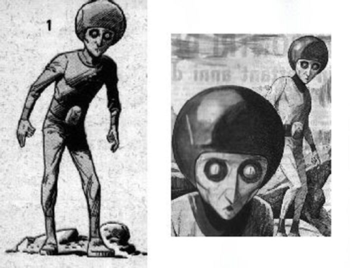 Artist's impression of the humanoid