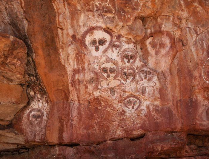 An example of Wandjina cave art
