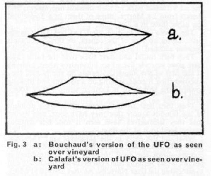 Witness sketches of the UFO