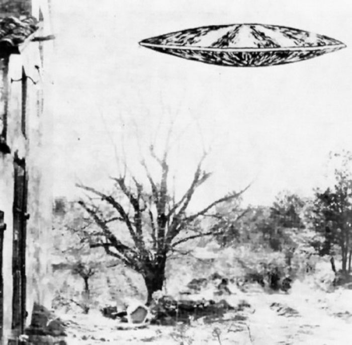 A witness sketch of a UFO