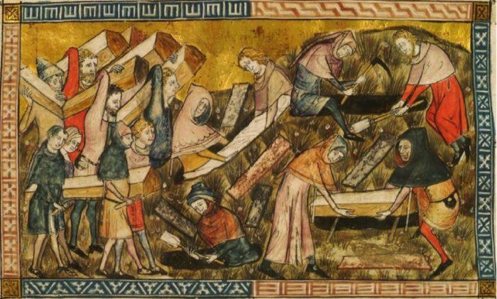 A Medieval depiction of past epidemics