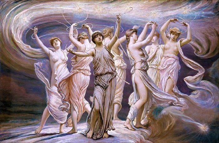A depiction of ancient Greek Gods