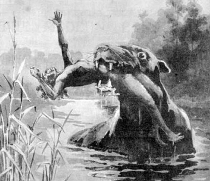 Depiction of the legendary Bunyip