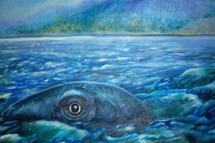 Depiction of the Ogopogo