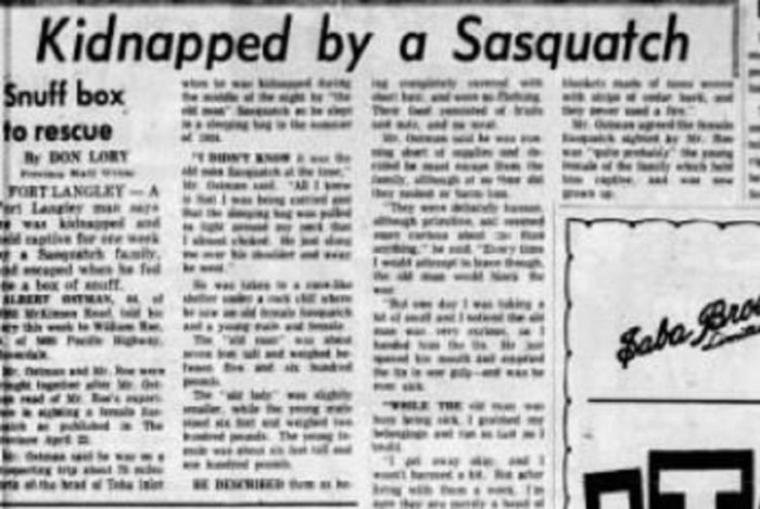 Newspaper clipping of the Ostmen incident