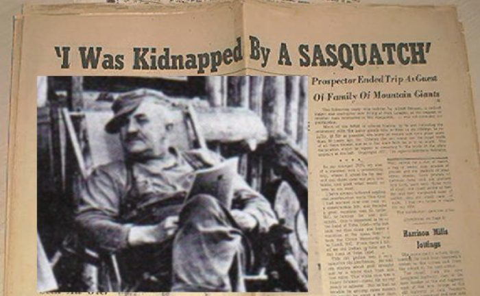 A newspaper clipping telling of the Ostmen incident