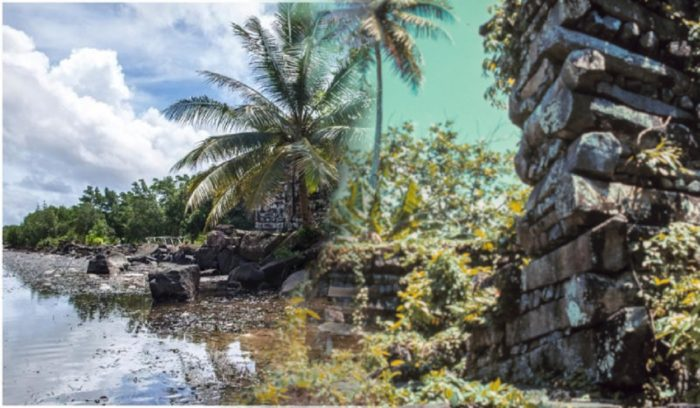 Examples of the stonework and waterways of Nan Madol