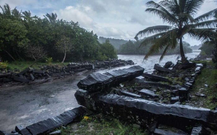 The purposely arranged stones of Nan Madol