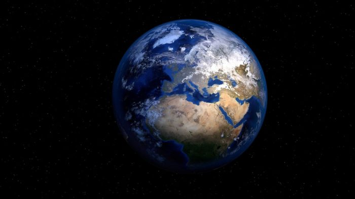 A picture of the Earth in space
