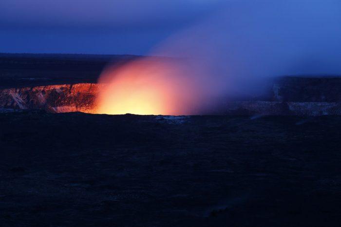 An open Volcano in Hawaii