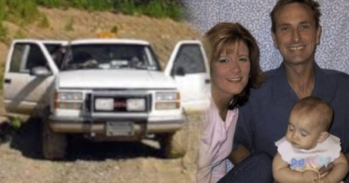 The Jamison Family faded into a picture of their abandoned truck