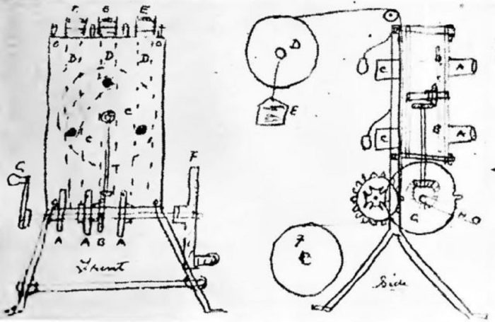 Blueprints of Le Prince's work