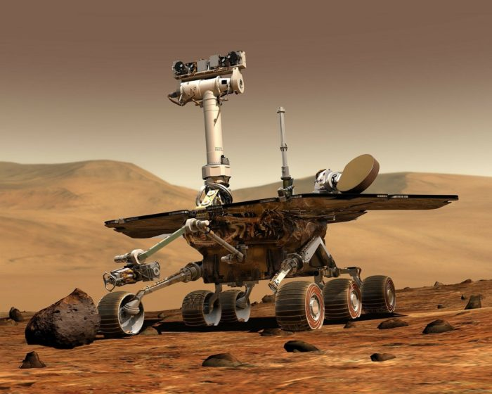 A picture of the Martian Rover