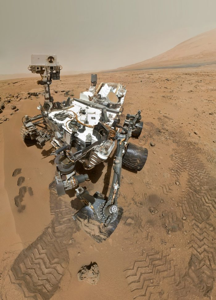 A picture of the Mars Rover