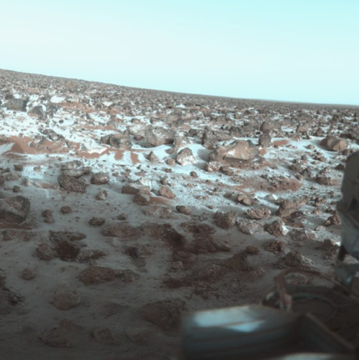 The ice on the Martian surface